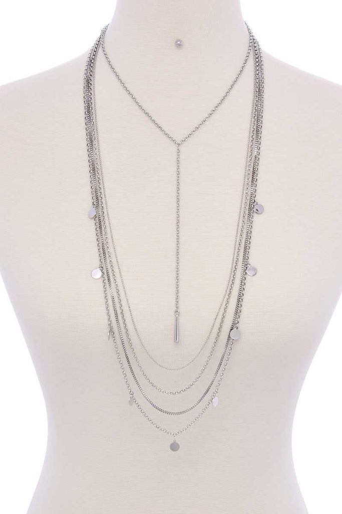 Metal Multi Chain Necklace - Hype Fashion