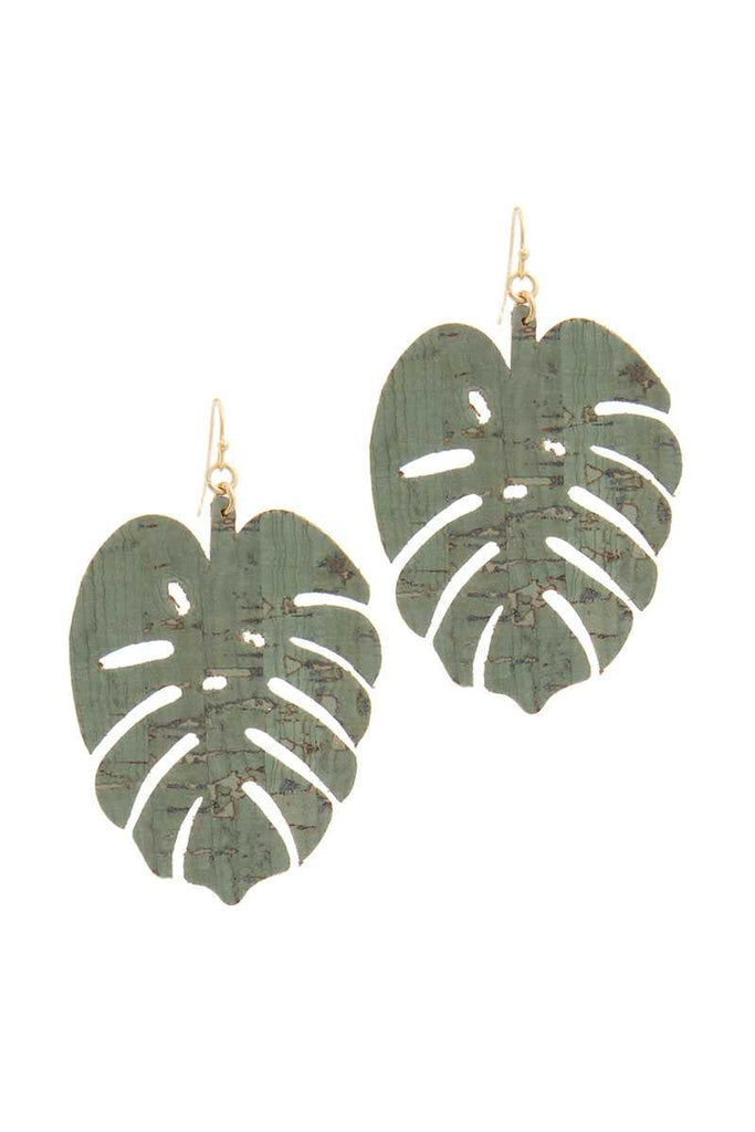 Tropical Leaf Drop Earring - Hype Fashion