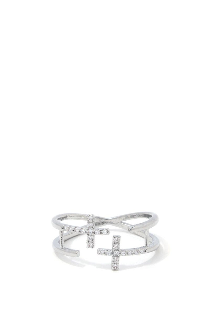 Double Cross Ring - Hype Fashion