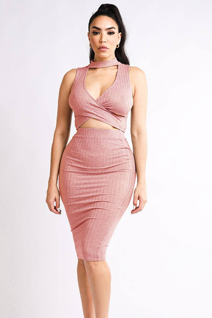 Halter Top & Skirt Set - Hype Fashion