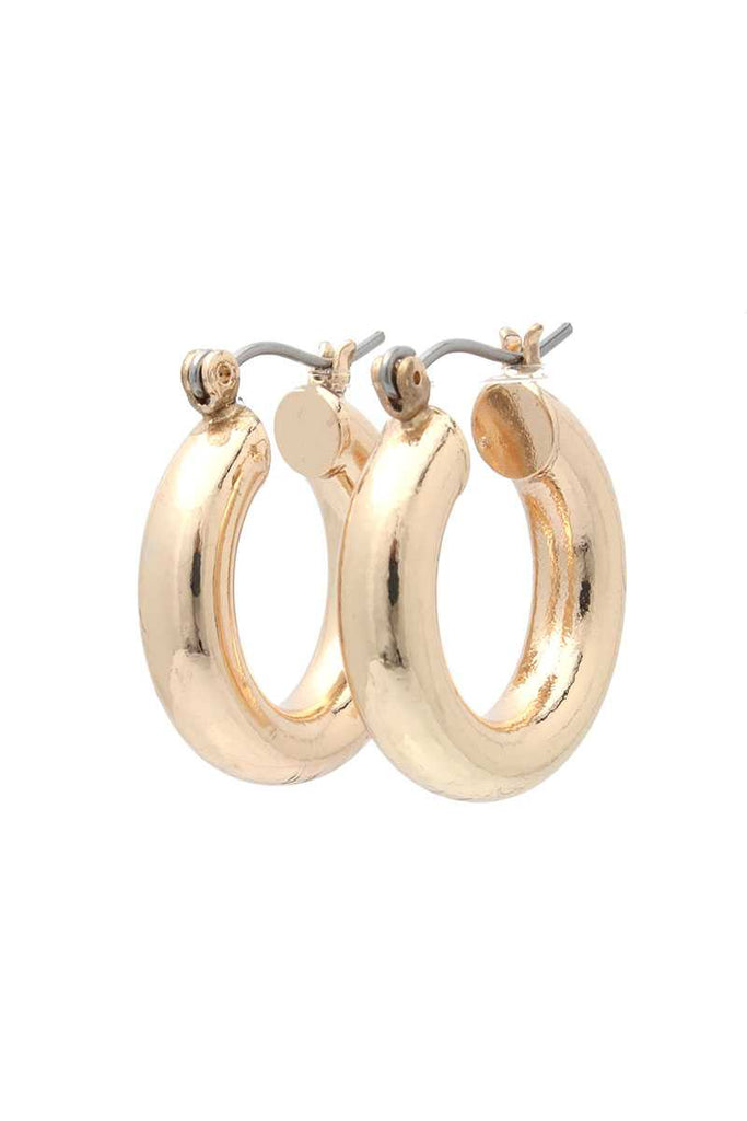 Tube Hoop Earring - Hype Fashion