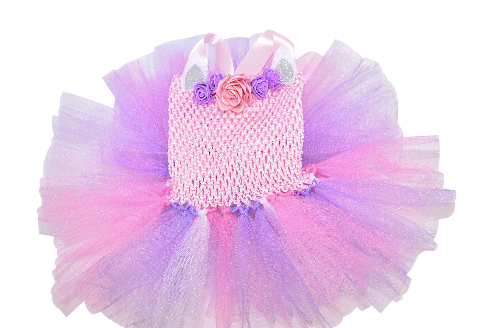 Multicolor unicorn inspired baby tutu dress