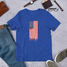 Load image into Gallery viewer, American Flag Paint Drip Shirt