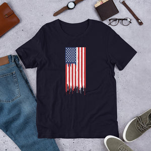 American Flag Paint Drip Shirt