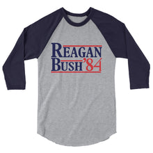 Load image into Gallery viewer, Retro Reagan Bush '84 Raglan Tee Shirt