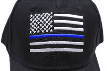 Load image into Gallery viewer, Thin BLUE Line USA American Flag Police Hat