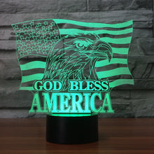 Load image into Gallery viewer, God Bless America Color Changing Light