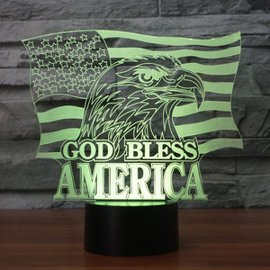 God Bless America Color Changing Light