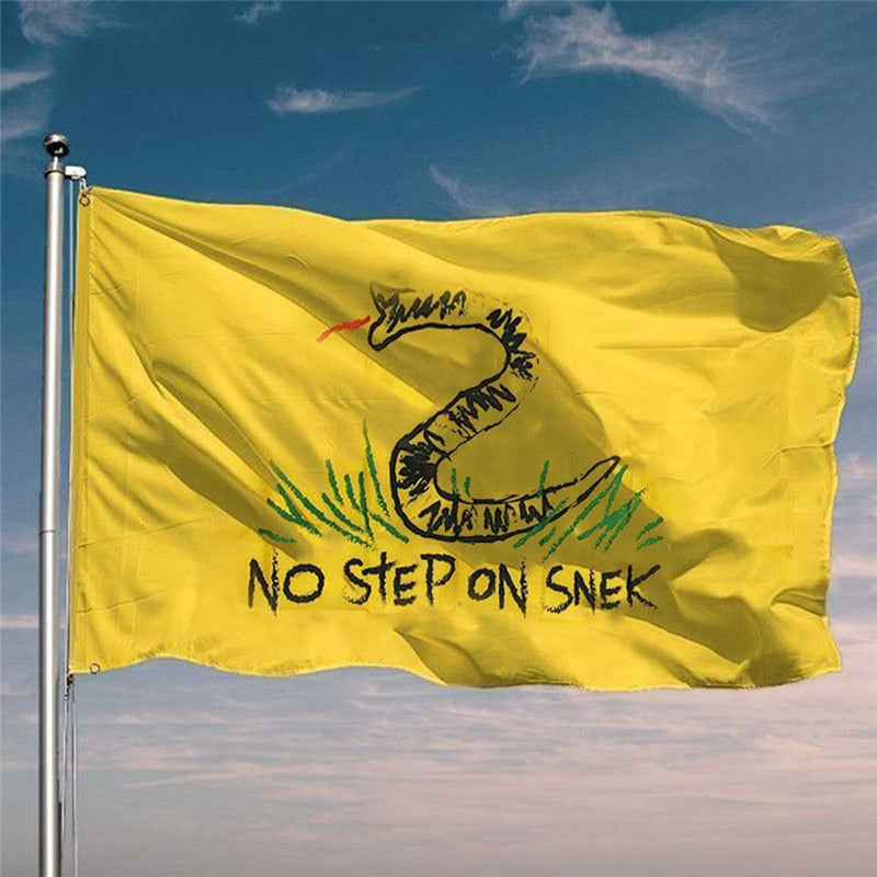 No Step On Snek Funny Flag Banner