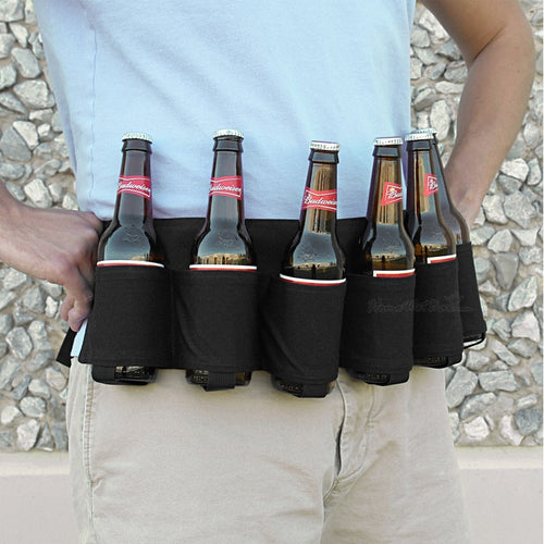 6 Pack Beer Belt Holster Waist Bag