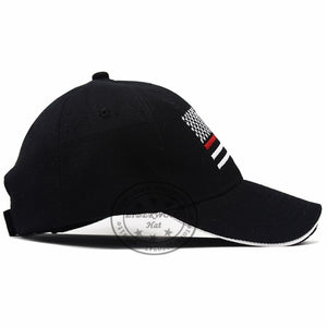 Thin RED Line USA American Flag Hat
