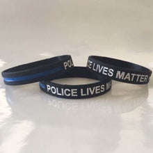 Load image into Gallery viewer, Thin Blue Line Police Support Wristband