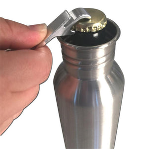 12 oz Stainless Steel Beer Bottle Keeper With Beer Bottle Opener