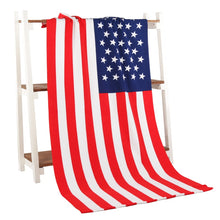 Load image into Gallery viewer, USA American Flag Beach Towel