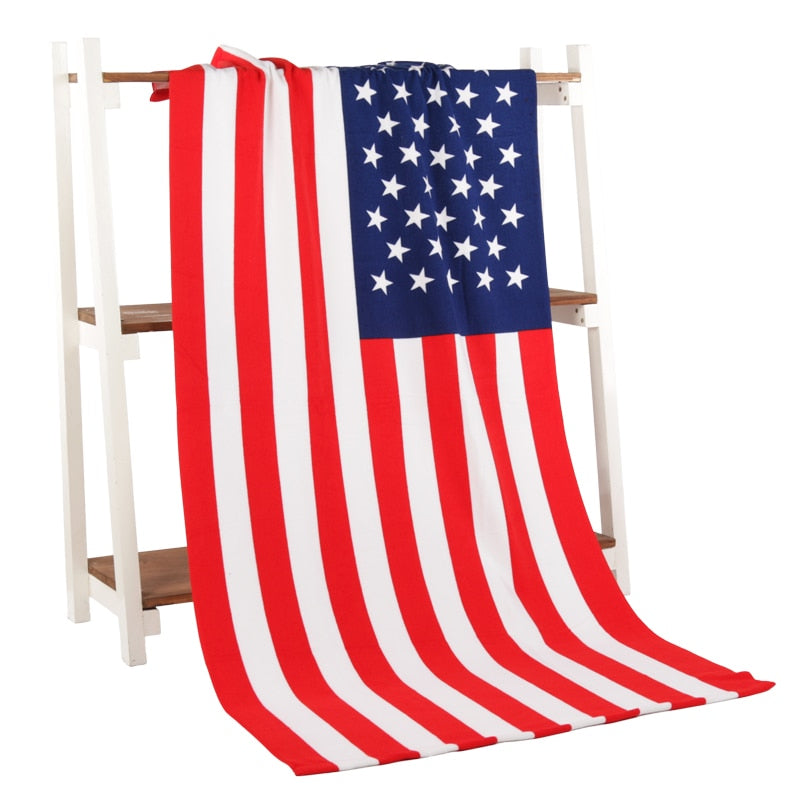 USA American Flag Beach Towel