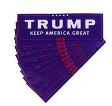Load image into Gallery viewer, Lot of 10 Trump 2020 Re-election Car Bumper Stickers Decals