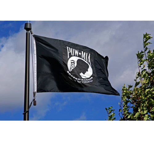 American POW MIA 3x5 Feet Flag - Prisoners Of War Black Banner