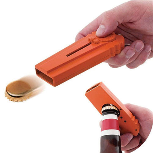 Beer Bottle Cap Opener And Launcher Funny Gag Gift