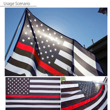 Load image into Gallery viewer, Firefighters Thin Red Line American Flag 3x5 Feet