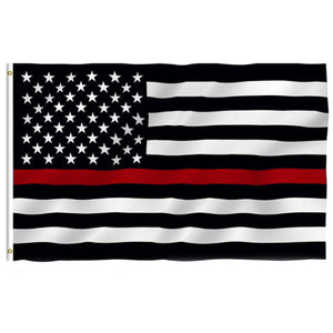 Firefighters Thin Red Line American Flag 3x5 Feet