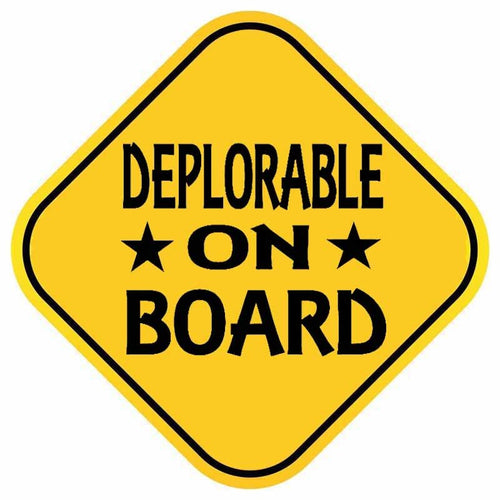 DEPLORABLE ON BOARD Car Sticker Decal