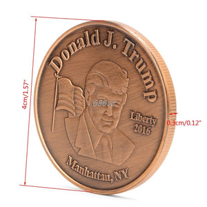 Donald Trump 45Th US President Commemorative Challenge Collection Coin Token