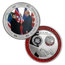 Load image into Gallery viewer, President Donald Trump Kim Jong Un Coin Singapore Peace Talk
