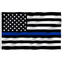 Load image into Gallery viewer, Police Thin Blue Line American Flag