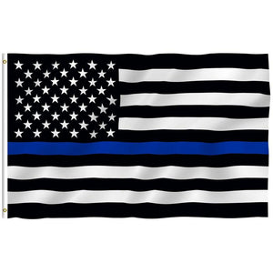 Police Thin Blue Line American Flag