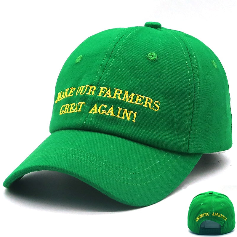 226ce925 Load image into Gallery viewer, MAKE OUR FARMERS GREAT AGAIN Trump Green  Hat Cap ...