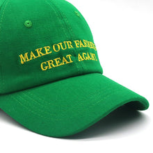 Load image into Gallery viewer, MAKE OUR FARMERS GREAT AGAIN Trump Green Hat Cap