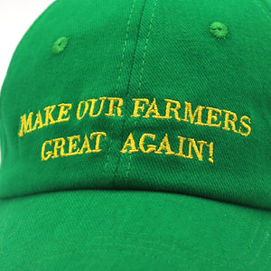 MAKE OUR FARMERS GREAT AGAIN Trump Green Hat Cap