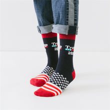 Load image into Gallery viewer, Trump 2020 American Flag Socks