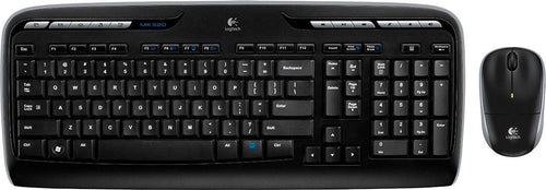 Logitech - MK320 Wireless Keyboard and Mouse - Black