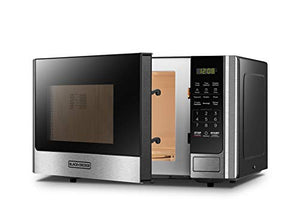 BLACK+DECKER EM925AB9 Digital Microwave Oven with Turntable 0.9 Cu.Ft