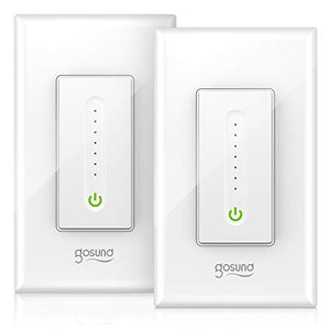Smart Dimmer Switch, Gosund WiFi Light Switch Compatible 1 Pack, White