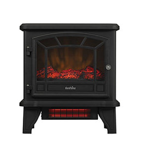 Duraflame DFI-550-22 Freestanding Infrared Quartz Fireplace Stove with Black
