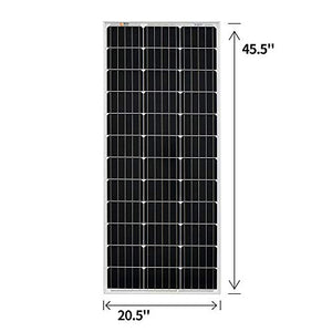 RICH SOLAR 100 Watt 12 Volt Monocrystalline Solar Panel High Efficiency 100W