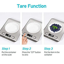 Load image into Gallery viewer, Etekcity Food Kitchen Scale, Gifts for Cooking, Small, 304 Stainless Steel
