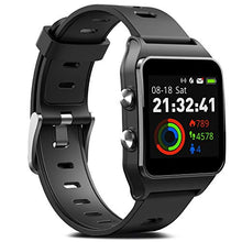 Load image into Gallery viewer, FITVII GPS Smartwatch with 17 Sports Mode Activity Tracker IP68 BLACK