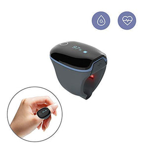 Health Ring Tracker, Oxygen Levels Heart Rate Monitor w Vibration Feedback...