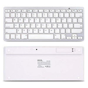OMOTON Ultra-Slim Bluetooth Keyboard Compatible with 2018 iPad Pro White