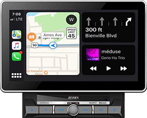"Jensen CAR1000 10.1"" Extra Large Touchscreen Media Receiver with Apple..."
