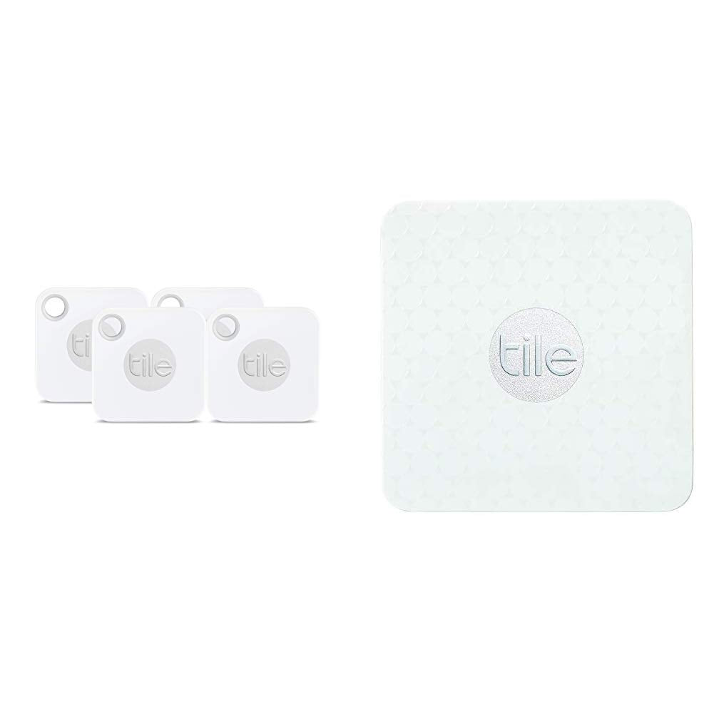 Tile Mate with Replaceable Battery - 4 Pack & Slim - Phone Finder. Wallet...