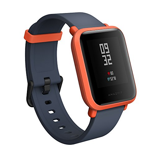 Amazfit BIP smartwatch by Huami with All-Day Heart Rate & Cinnabar Red