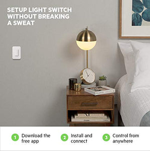 Wemo Wi-Fi Light Switch 3-Way 2-Pack Bundle - Control Lighting from...