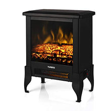 Load image into Gallery viewer, TURBRO Suburbs TS17 Compact Electric Fireplace Heater, Freestanding Stove...