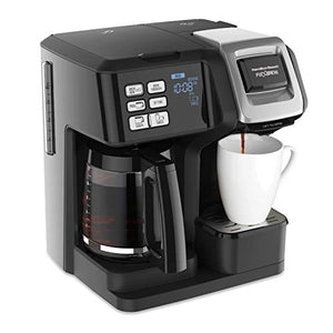 Hamilton Beach FlexBrew Trio Coffee Maker, 2-Way Single Serve & Black, Black