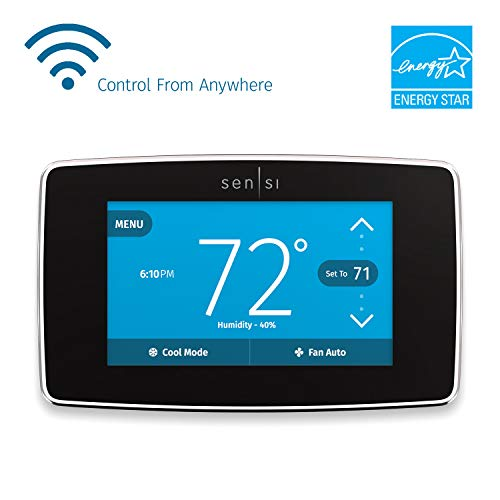 Emerson Sensi Touch Wi-Fi Smart Thermostat with Touchscreen Color Black