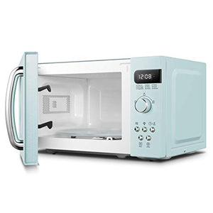 COMFEE' AM720C2RA-G Retro Style Countertop Microwave Oven with 9 Pastel Green